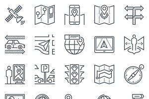Navigation system, map icon set