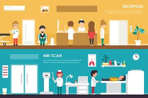 MRI Scan & Reception illustration