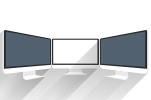 Device Mockups. Computer Monitor