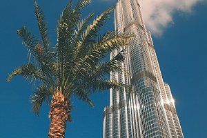 Burj Khalifa and palm :)