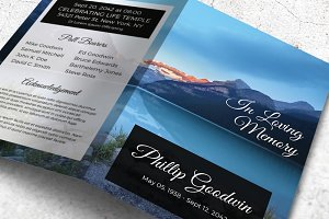 Lake Printable Memorial Program