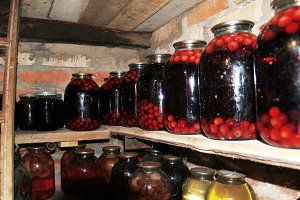 basement of the home canning