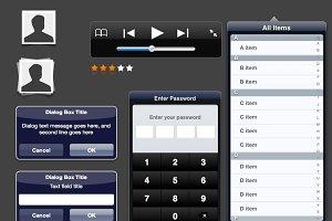 Fireworks iPad UI Templates