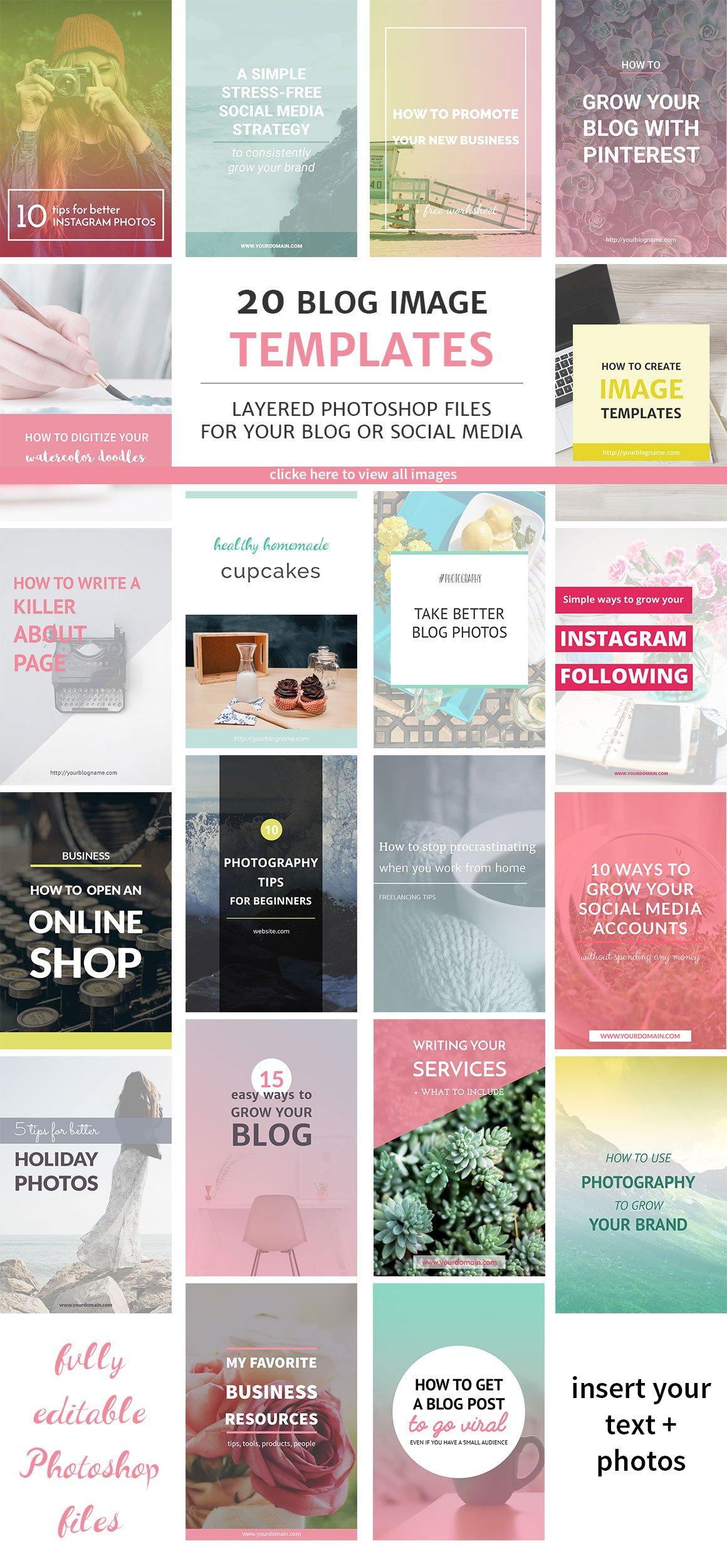 20 blog post and instagram templates pinterest templates 20 blog post and instagram templates pinterest templates creative market maxwellsz