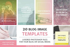 20 Blog Post and Instagram Templates