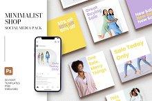 Minimalist Shop Social Media Pack by  in Social Media