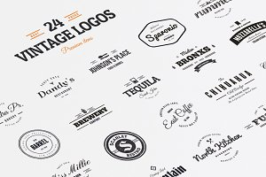 24 Vintage Logos & Badges Vol. 1