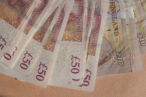 GBP Pound notes