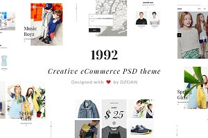 1992 Creative eCommerce PSD Template