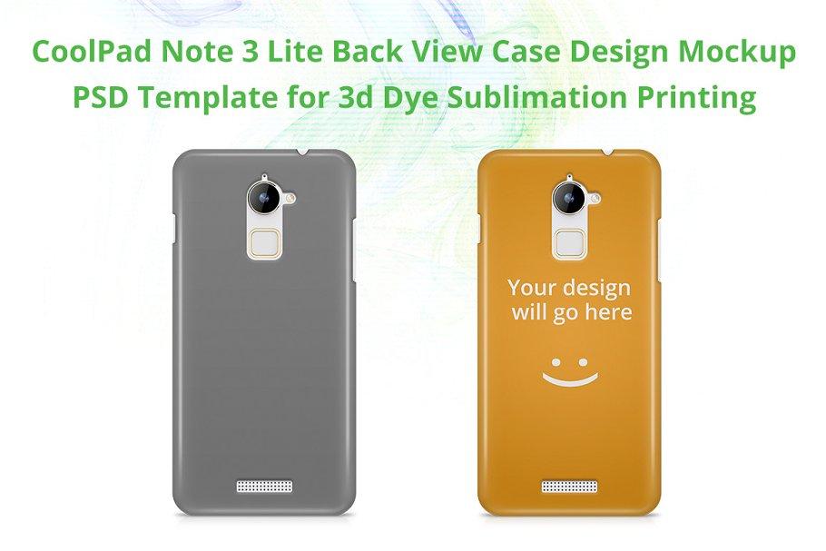 CoolPad Note 3 Lite 3dCase Mockup