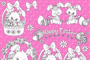 Easter Bunny Stamps AMB-1174