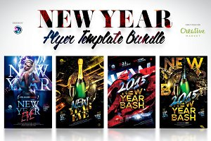50% Off New Year Flyer Bundle
