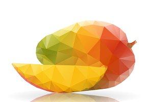 Mango in polygonal style