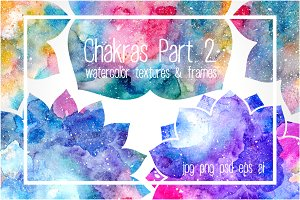 Chakras Part 2. Watercolor textures