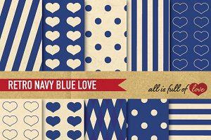 Patterns Navy Blue Background Papers
