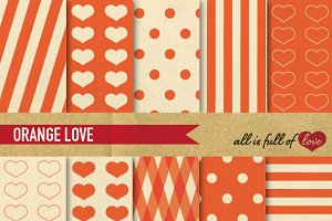 Orange Vintage Background Paper