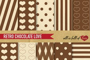 Chocolate Brown Retro Illustrations