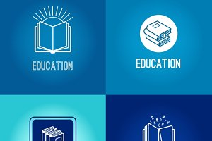 Education logo set