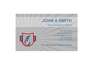 American Patriot Business Card Templ