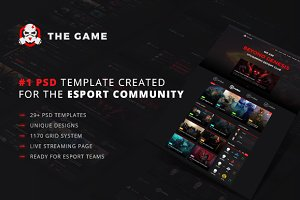 The Game - eSport PSD Gaming Templat