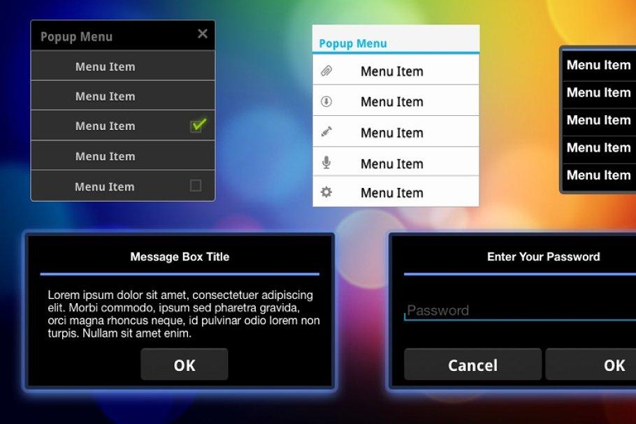 Illustrator Android UI Templates ~ Product Mockups ~ Creative Market