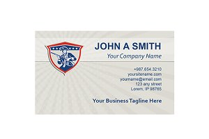 Business Card Template American Patr