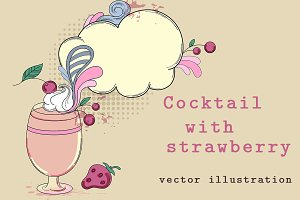 Сocktail with strawberry