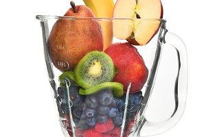 Blender Filled With Fruit