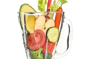 Vegetables in Blender