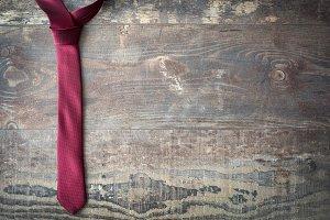 Tie on wood