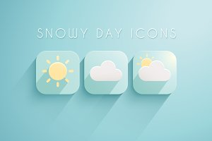 11 Snowy Day Icons