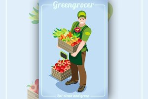 Greengrocer Services Isometric