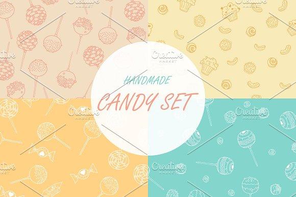 Candy Hand Drawn Seamless Patterns