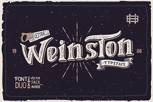 Weinston Typeface + Extras