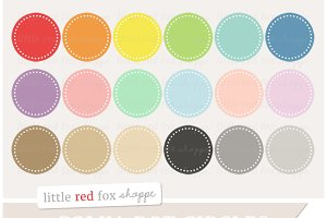Polka Dot Circle Clipart