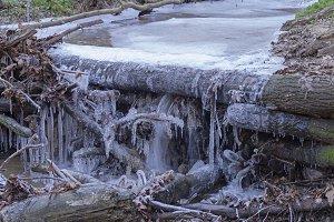 Bizarre ice figures