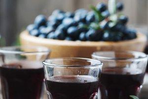 Sardinian liqueur mirto