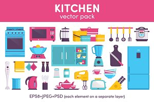 Kitchen vector pack