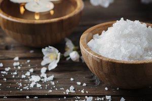 SPA treatment with white salt