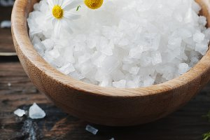 SPA treatment with salt and flowers