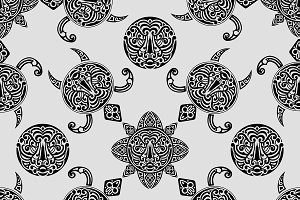 vector seamless pattern with polynes