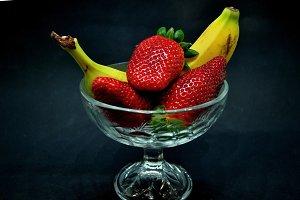 strawberries and banana