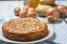 Spanish omelette with potatoes