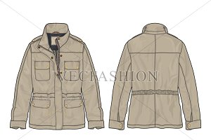 Men Cotton Twill Mountain Jacket