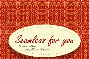 Set of different seamless patterns