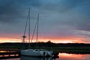 Yachts at Mazury Lakes