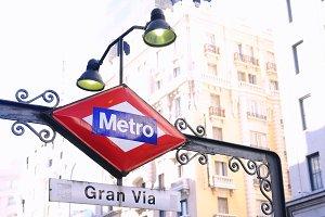 Metro station, Madrid.