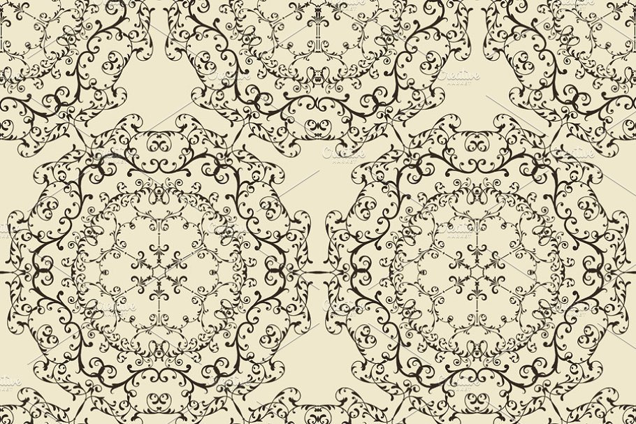 Vector Seamless Vintage Pattern in Patterns - product preview 8