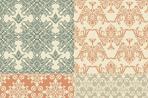 4 Vector Seamless Vintage Patterns