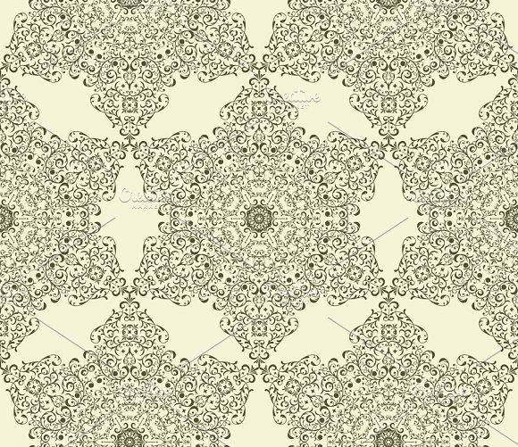 Vector Seamless Vintage Star Pattern in Patterns